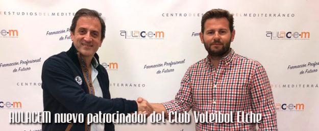 Aulacem patrocinará al Club Voleibol Elche en la nueva temporada