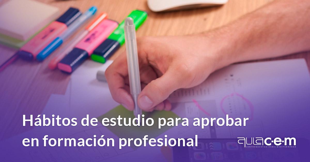 Hábitos de estudio para aprobar en formación profesional